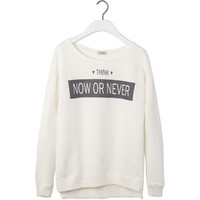 Pull & Bear Printed Sweatshirt