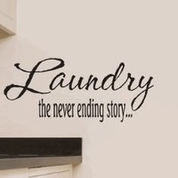 Laundry the Never Ending Story Vinyl Wall Decal-Decal Color-Copper Metallic