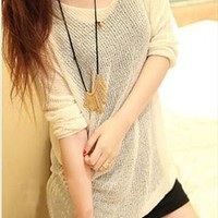 Oversize Pure Color Blouse for Women VNX434 from topsales