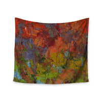 """Jeff Ferst """"Fall Colours"""" Red Painting Wall Tapestry"""