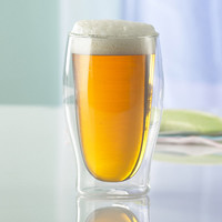 Set of Two Double Wall Beer Glasses