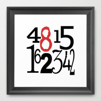 Art Print - The Numbers, Lost, TV, Hurley, Dharma, Television, Pop Culture, White, red, black, Square, dharma initiative, Hugo, 4815162342