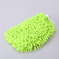 Green Chenille Cleaning Glove