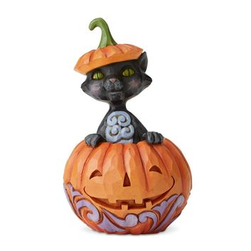 Jim Shore HWC Cat In Pumpkin Mini - 6004330
