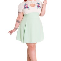 Hell Bunny Plus size Kawaii Lolita Two Tone Kyoto Mini Party Dress