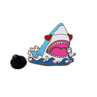 Love Shark Enamel Pin