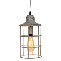 Nautical Metal Distressed White Hanging Pendant Lamp