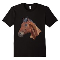 Geometric Horse Face Equestrian Shirt Horse Lover Gifts