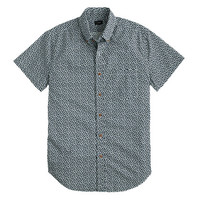 J.Crew Mens Secret Wash Short-Sleeve Shirt In Dark Navy Floral