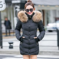 Quilted Jackets: Faux Fox Fur Parka Jackets