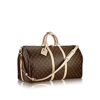 Louis Vuitton monogram canvas Keepall 55 Luggage M41414  Louis Vuitton Handbag