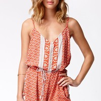 FAITHFULL THE BRAND Daybreak Playsuit - Womens Dress - Multi - Small