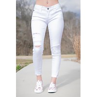 Tatum White Distressed KanCan Jeans