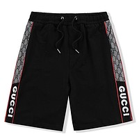 GG new embroidered letters men's casual beach shorts
