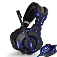 Led Light Multimedia RPG/FPS Pro PC Gaming Headphones Headset with Microphone