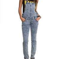 Bleach Washed Overalls   Hot Topic