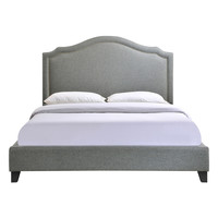 Modway Charlotte Queen Bed Frame - Grey - Size Queen