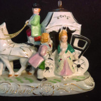 Cinderella Carriage  Night Light, Royal Japan, Dresden Style Carriage night Light (1238)