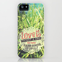 "1 Cor 13:4 ""Love is..."" iPhone & iPod Case by Pocket Fuel"