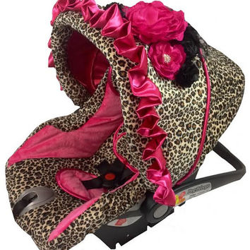 Shop Pink Infant Car Seat Covers On Wanelo