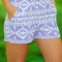 EVERLY:Rough Around The Edges Shorts-Lavender