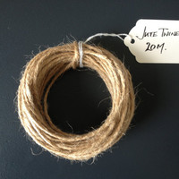 Jute Twine - Natural Jute Twine, Packaging Twine, DIY Wedding Invitations, Gift Wrapping Twine, Jute String, Luggage Tags, 20 m