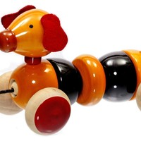 Bovow Wooden Pull Toy Handicraft of India