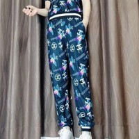 """""""Gucci"""" Women's Leisure  Fashion Letter Printing  Short Sleeve Trousers Two-Piece Casual Wear"""