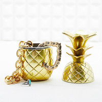Pineapple Jewellery Box in Gold - Urban Outfitters