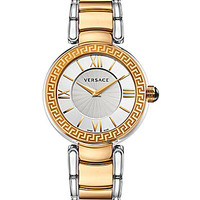 Versace V-Pearl Two Tone Analog Watch - Gold/Silver