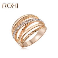 ROXI Rose Gold Plated Cubic Zirconia Wedding Band Ring