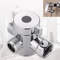 Newest Bathroom Products 1/2 Inch Three Way T-adapter Valve For Toilet Bidet Shower Head Diverter Valve C7727