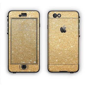 The Gold Glitter Ultra Metallic Apple iPhone 6 LifeProof Nuud Case Skin Set