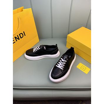 FENDI 2021 Men Fashion Boots fashionable Casual leather Breathable Sneakers Running Shoes10090em