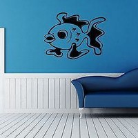 Wall Stickers Vinyl Decal Ocean Marine Fish For Bathroom Unique Gift ig1579