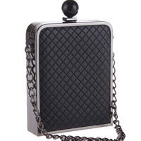 Casual Quilted Chic Squared Clutch Bag