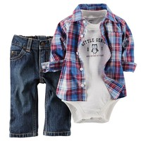 Carter's ''Little Genius'' Bodysuit & Jeans Set - Baby Boy, Size: