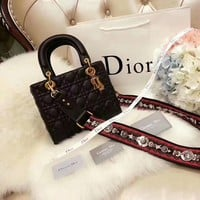 Dior Women Shopping Bag Leather Satchel Crossbody Handbag Shoulder Bag