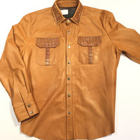 G-Gator - Lambskin Button-Up Shirt w/ Gator Pockets
