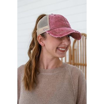 Out The Door Hat - Light Mulberry