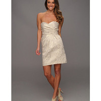 Laundry by Shelli Segal Strapless Foiled  Jacquard Dress Gold Multi - Zappos.com Free Shipping BOTH Ways