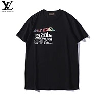 Louis Vuitton LV Fashion Casual Shirt Top Tee Black