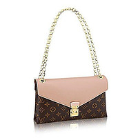 LV Louis Vuitton Pallas Chain Dune Color Clutch Shoulder Bag Cross Body Article: M5006