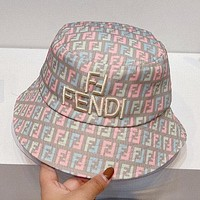 FENDI New Summer Hat Double F Letter High Quality Embroidered Fisherman Hat 1