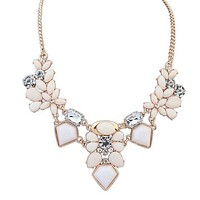 Perfect Gold, Cream, and Blush Statement Necklace
