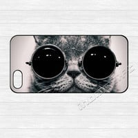 Cat iPhone 5 Case,Cool Cut Sunglasses Cat iPhone 5 5s Hard Case,cover skin case for iphone 5/5s case,More styles for you choose