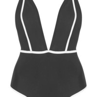 **Deep Plunge Cage Back Swimsuit by Oh My Love - Boots