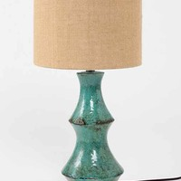 Reactive Glaze Lamp- Bright Green One