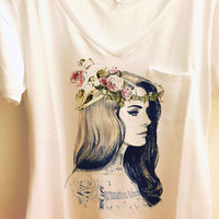 Lana del Rey Pocket V Shirt
