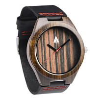 Wooden Watch // Ebony 37 Red